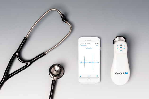 The First Digital Stethoscope eKuore Pro