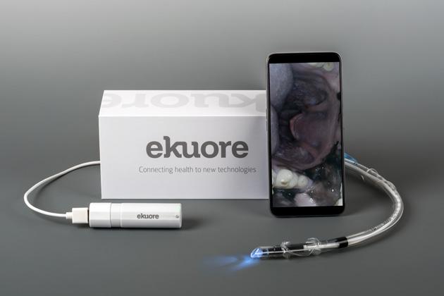 El endoscopio incluye varios accesoriosk, estuche, módulo de wifi y guía de uso